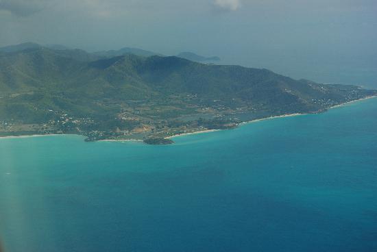 Sandals Grande Antigua Resort & Spa: antigua from plane