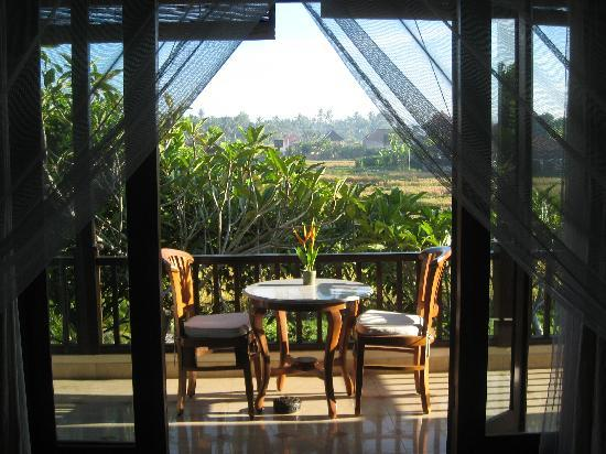 Bebek Tepi Sawah Villas & Spa: View of rice field from Ubud Village balcony