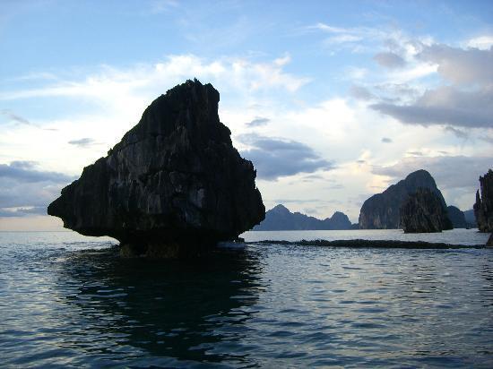 El Nido Resorts Lagen Island: Low Tide fr Room Deck