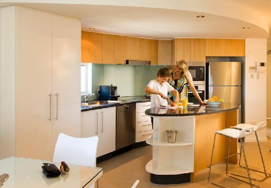 Rumba Beach Resort: Designer kitchens in all rooms