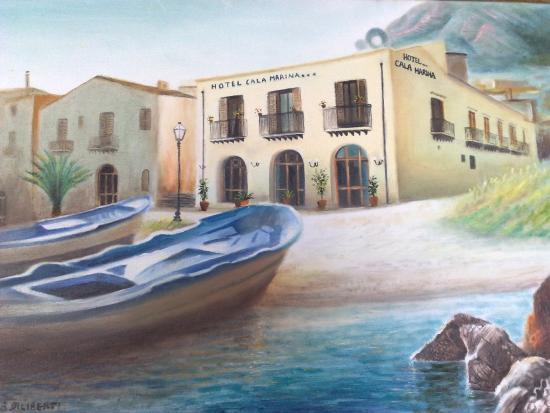 Hotel Cala Marina: Esterno raffigurato in pittura
