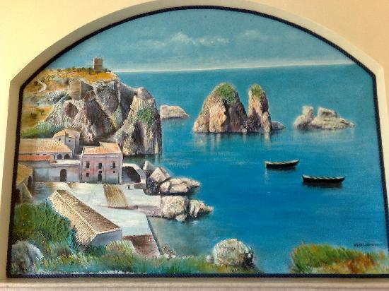 Hotel Cala Marina: pittura reception