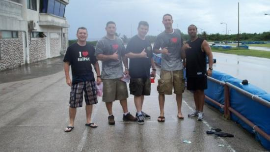 Saipan, Mariana Islands: After riding in the rain