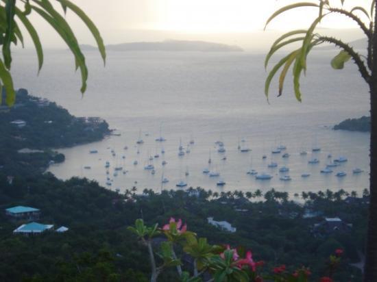 St. John: Vista de Cruz Bay