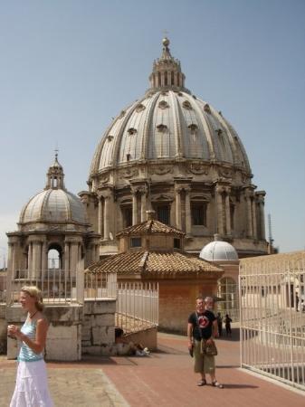 Peterskirken: cupula de san pedro. (el vaticano)