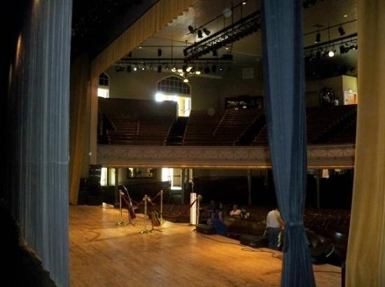 Ryman Auditorium: The Ryman again nfrom the stage