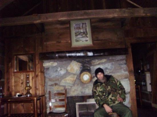 Great Smoky Mountains National Park, TN: me dressed like i work for blackwater.. in my cabin