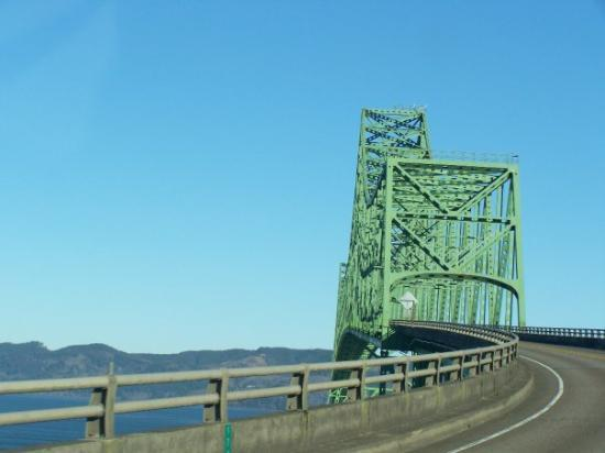 Heading over the Astoria Bridge - crossing the famous Columbia River as it dumps into the Pacifi