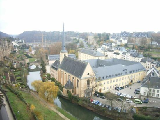 Luxembourg by, Luxembourg: View from the Cornishe 'Most beautiful balcony in the World'
