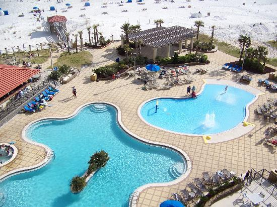 Hilton Pensacola Beach Mor Of The Empty Pools Brrrrrrrrrr