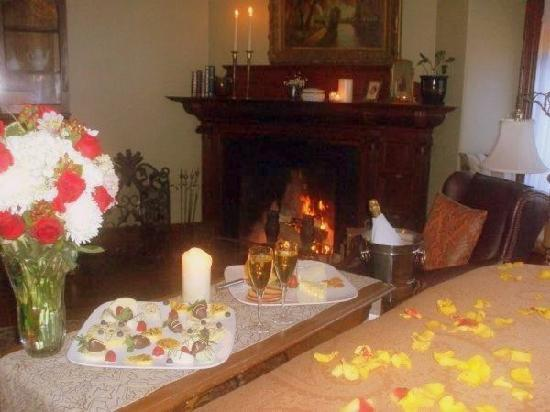 The Samuel Sewall Inn: A Romantic Package set up for our guests' arrival
