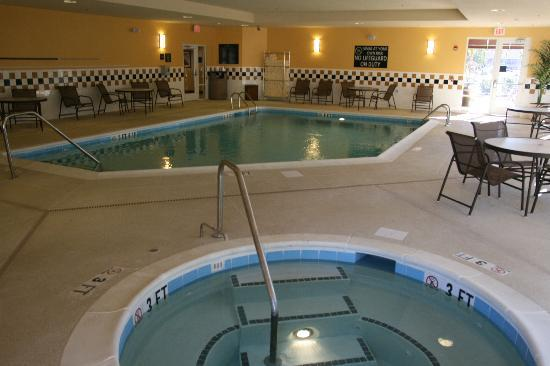 Indoor pool picture of hampton inn suites florence for Pool show florence sc