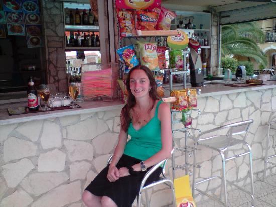 Katerina Palace Hotel: My new wife at the bar as normal