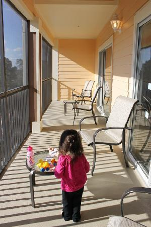 Palisades Resort: Large Balcony Outside Living Room U0026 Bedroom #2