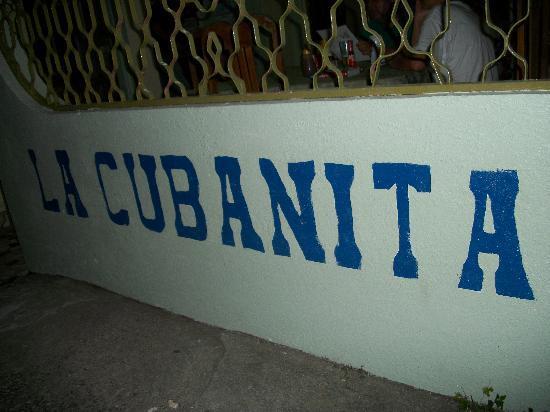 La Cubanita: front of resteraunt
