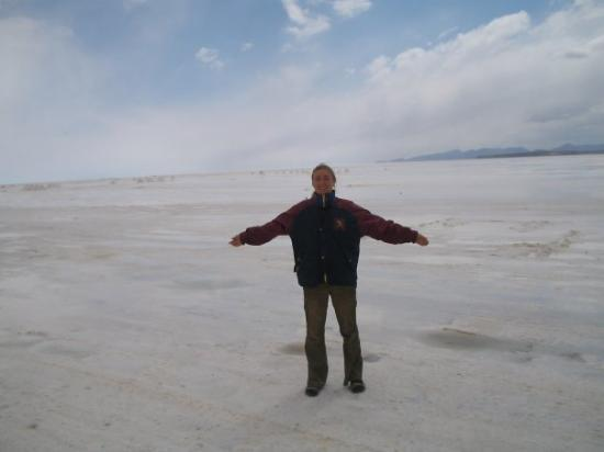 Uyuni, Bolivia: salt,I know it lookes like a glacier, but differant taste belive me