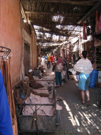 Djema al-Fna: Leather Souk. Marrakech Medina.