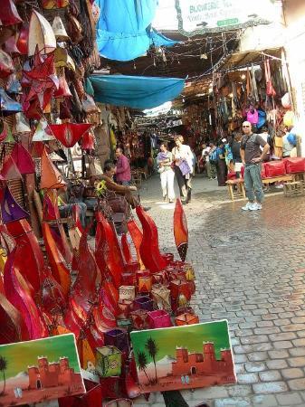 Marrakech Souk: dans les souks..