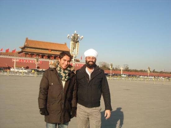 Tiananmen Square (Tiananmen Guangchang): me, Sarwan Bei Jing 25th Jan 10, tain men square beijing