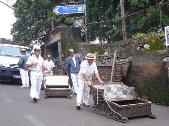 Funchal, Portugal: Toboggan rides are a blast!