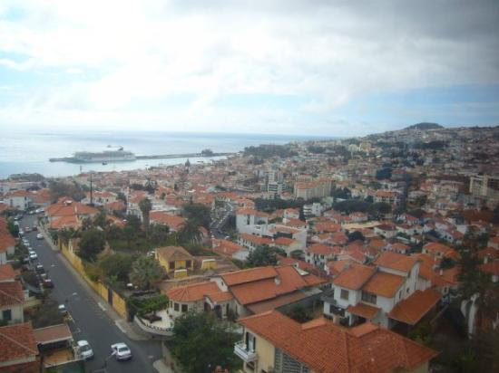 Funchal, Portugal: View of Madeira Island from a Sky Cable Car
