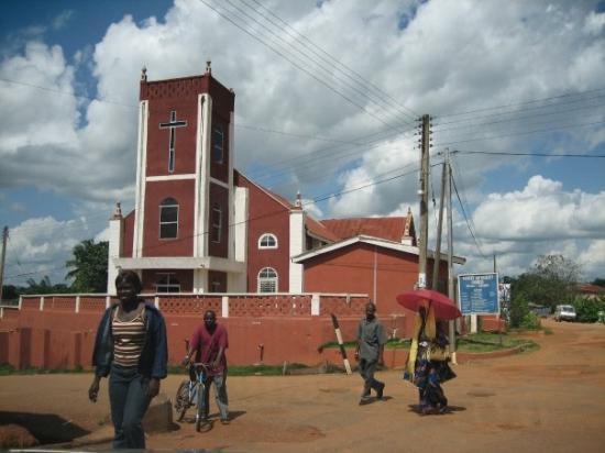 Accra, Ghana: church in village