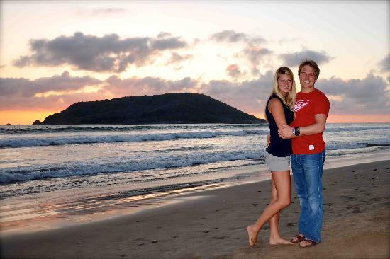 El Cid Castilla Beach Hotel: Us... a few feet from the resort... on the beach