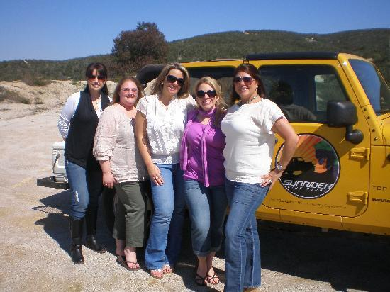 Sunrider Jeep and Wine Tours of Temecula: Our group with the Jeep
