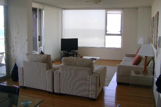 One The Esplanade: Living room