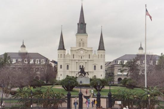 French Quarter: Breathtaking in person.  Church square.