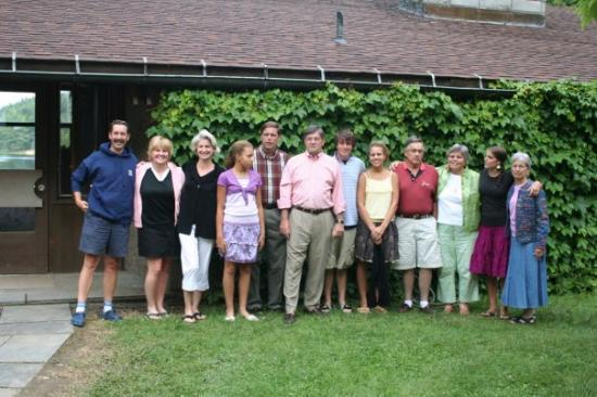 Westminster, CO: Doug's family, Lake Oteyokwa, Pennsylvania.  l to r, Doug, me, Nora, Cassie, Dave, Bob, Ryan, Ka