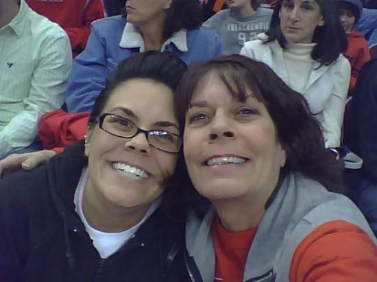 Columbus, OH: My youngest daughter Tracy, she took me to the OSU Hockey game as a X-Mas gift. Got 2 love her!