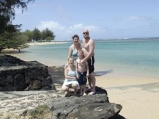 Kauai, HI: A family pic at Anini beach after a great afternoon of snorkeling, we even saw turtles (about 8