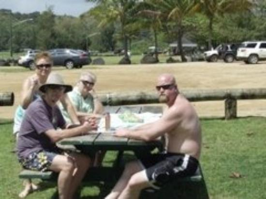 Kauai, HI: A nice picnic lunch at Anini Beach