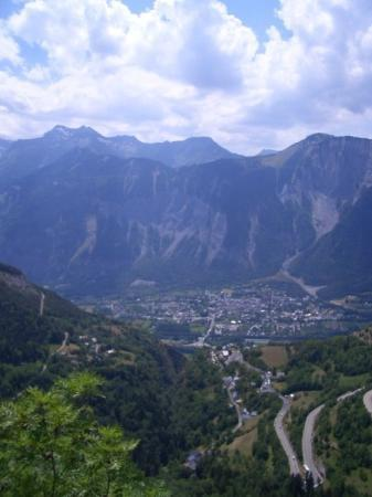 L'Alpe-d'Huez, Frankrike: A nice shot of the 21 switch back on the clime of Alpe d'Huez