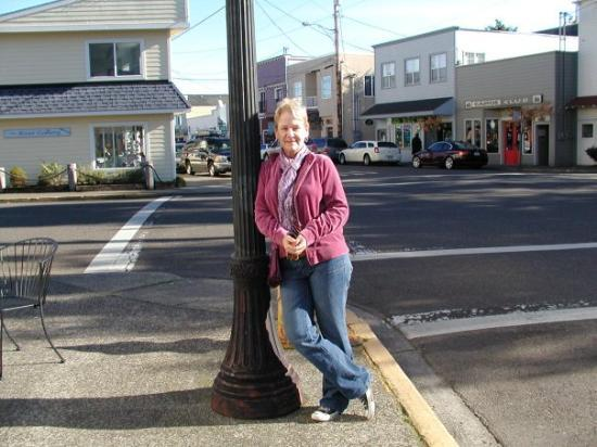 Lamppost in Florence Oregon
