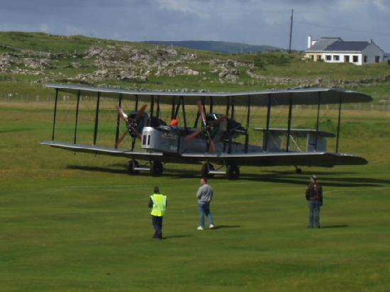 Connemara Championship Golf Links: Replica Vimy arriving on the 8th fairway