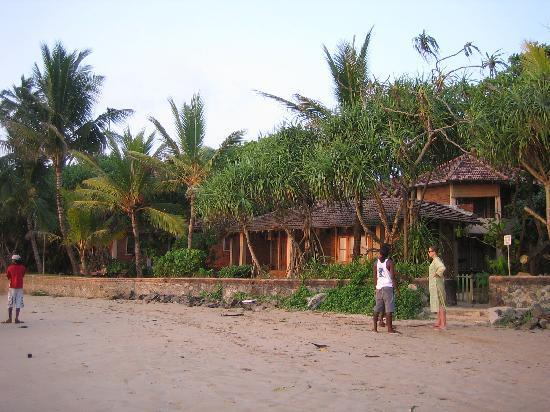 Barberyn Reef Ayurveda Resort: Blick vom Strand aufs Resort