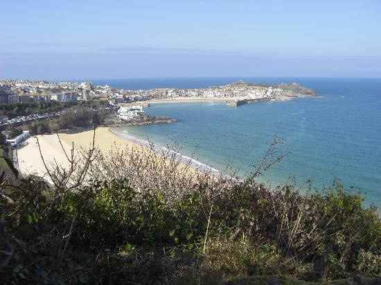 The Atlantic: on our way to st ives.. superb view!