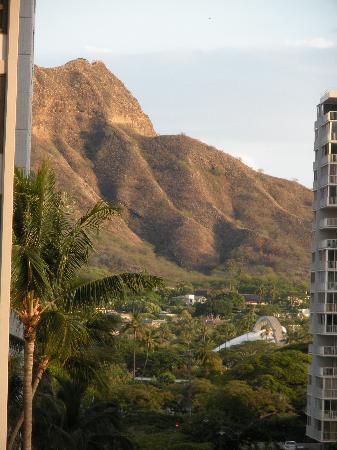 Hilton Waikiki Beach: Looking Down the Street from Balcony -- Diamondhead