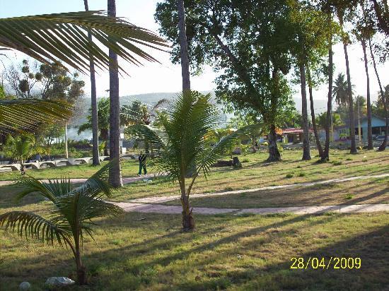 Hotel Guarocuya: Vista del parque del hotel