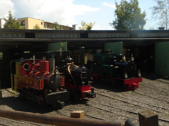 Swiss Vapeur Parc: The engine sheds