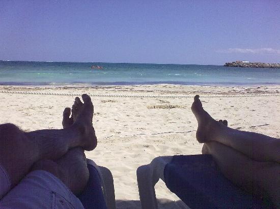 Hotel Marina El Cid Spa & Beach Resort: vista desde nuestra palapa reservada