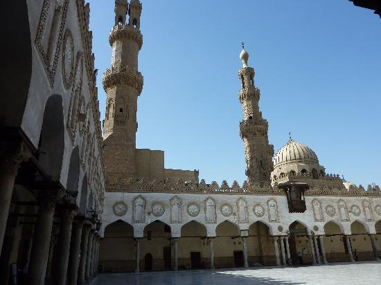 Kairo, Egypt: Courtyard of the Al-Azhar Mosque
