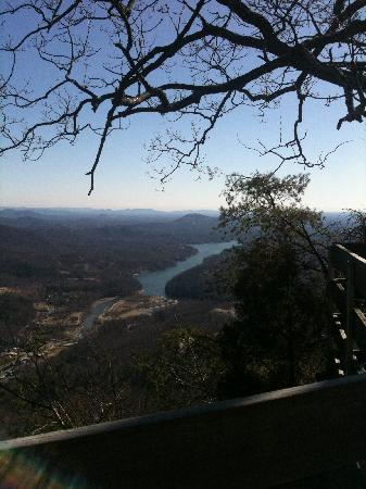 View from the top of Chimney Rock Park