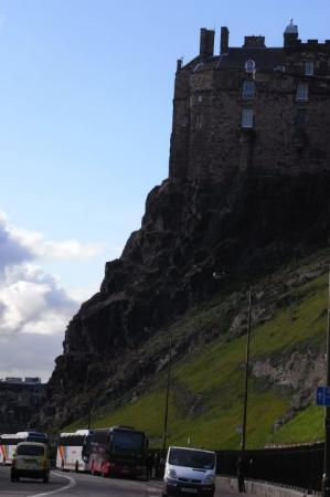 Edinburgh Castle: The other side of the castle.