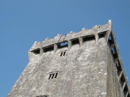 see the light coming through the hole in the top of the castle? thats where the blarney stone is