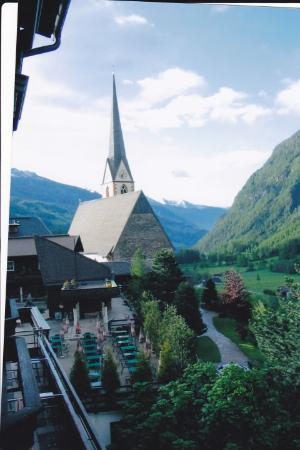 Utsikt från balkongen I heiligenblut