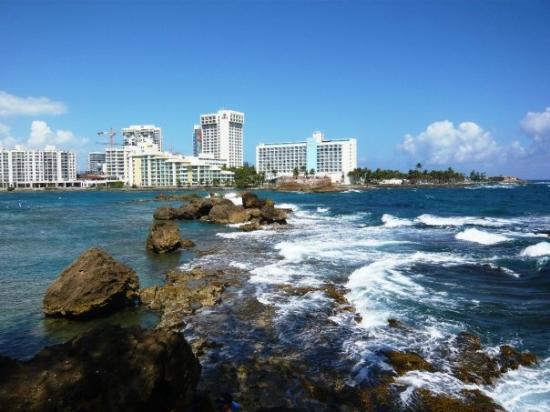 The Condado Plaza Hilton: The lagoon and the ocean.