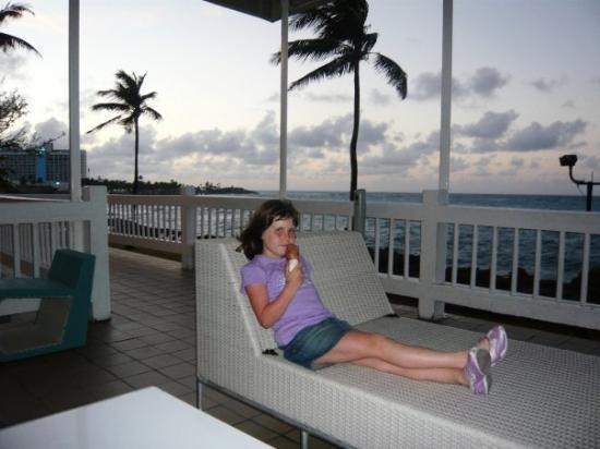 The Condado Plaza Hilton: Shannon and Ice Cream from the hotel.